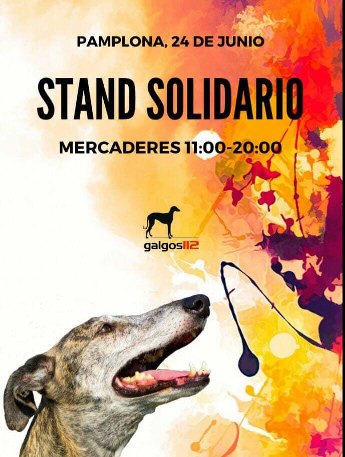 stand dolidario galgos 112 en Pamplona